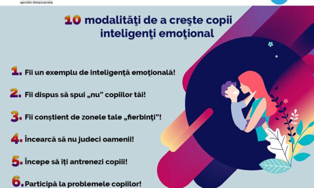 10 modalități de a crește copii inteligenți emoțional